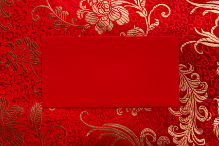 red pocket on chinese fabric