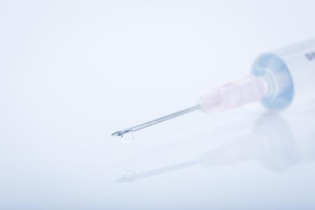 intravenously: syringe Stock Photo