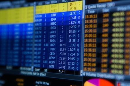 nasdaq: Stock market chart,Stock market data on LED display concept.