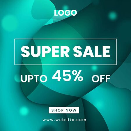 Super Sale Post With Liquid Effect