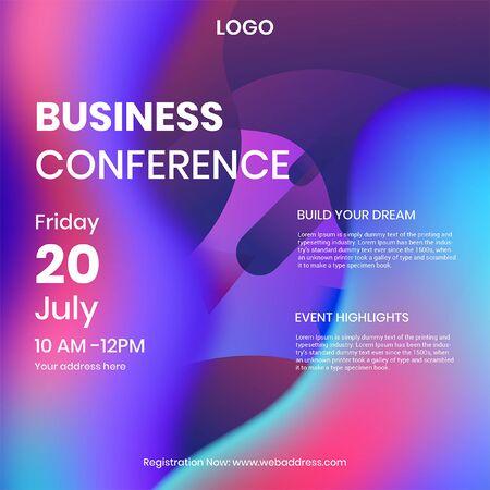 Business Conference Social Media Post Illustration
