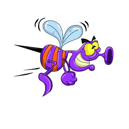 Cartoon Flying Bug