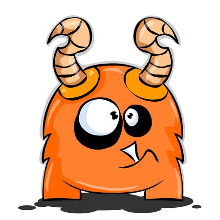 Orange Cartoon Creature