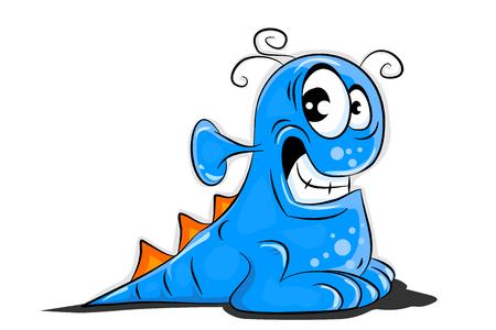 Blue Alien Creature Ilustrace