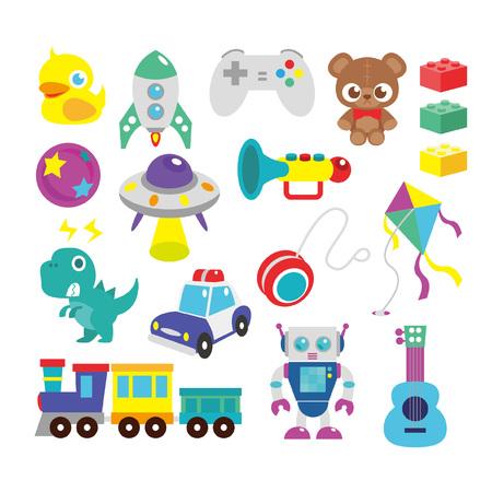 Kids toys illustration Illustration