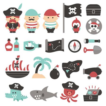 cute pirate Ilustração