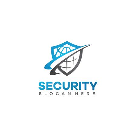 Plantilla de logotipo de seguridad de aplicaciones. Vector eps.10