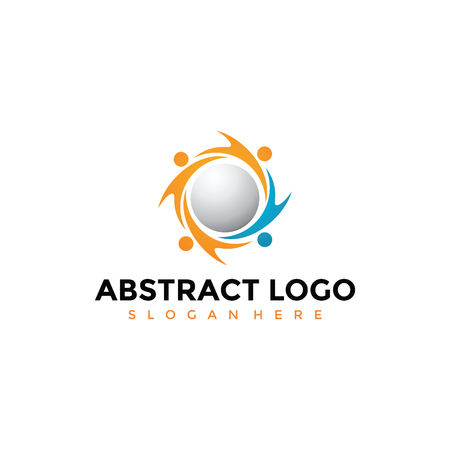 Abstract logo template. Vector illustrator EPS. 10
