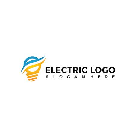 Plantilla de logotipo eléctrico. Vector Illustrator Eps. 10