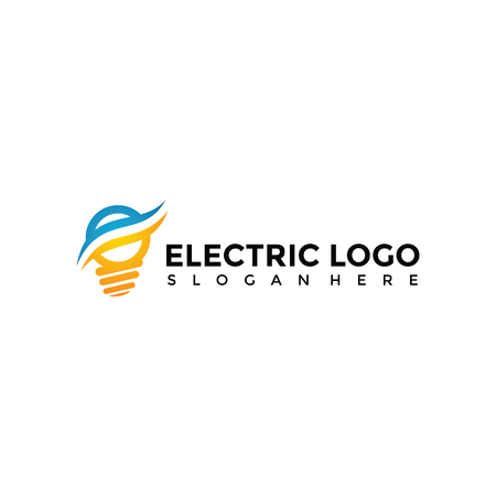 Electric Logo Template. Vector Illustrator Eps. 10