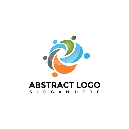 Abstract People Logo Template. Vector Illustrator Eps. 10 Illustration