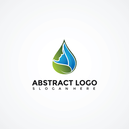Abstract Purity Logo Template. Vector Illustrator Eps. 10 Illustration