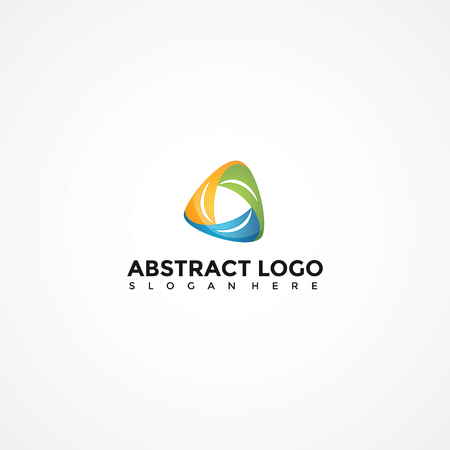 Abstracte Triagle Logo sjabloon. Vector Illustrator Eps. 10