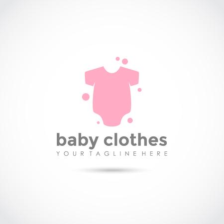 Baby Clothes Logo Design. Vector Illustrator Eps.10 Ilustracja