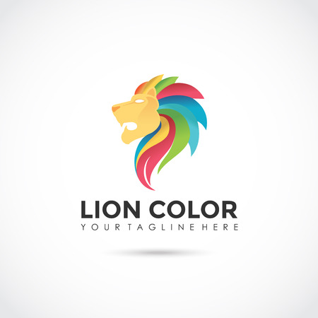 Lion Multi Color icon Design. Vector Illustrator Ilustração