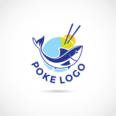 Poke Food Logo Logo Design. Vector Illustrator Eps. 10