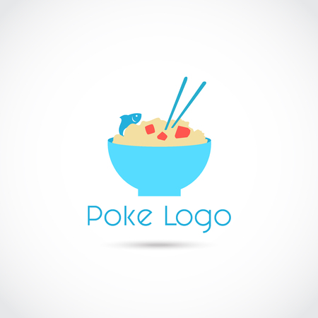 Poke Food icon  Design. Vector Illustrator