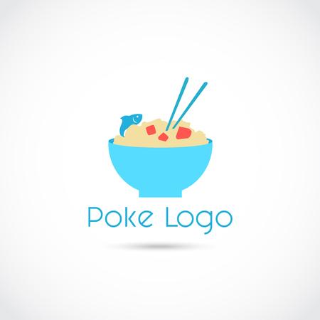 Poke Food icon  Design. Vector Illustrator