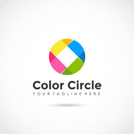円の色のアイコンのデザイン。ベクターイラストレーター