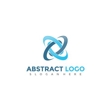 抽象的なロゴデザイン。ベクトルイラスト。  イラスト・ベクター素材
