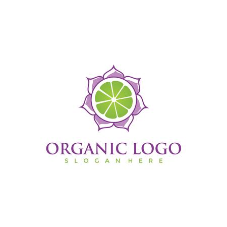 オーガニックロゴデザイン。ベクトルイラスト。