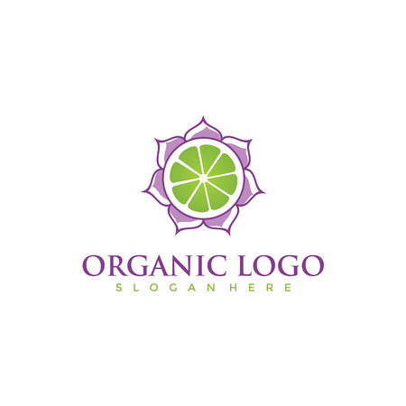 Organic Logo Design. Vector illustration. Çizim