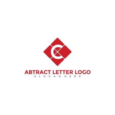抽象文字 C ロゴ デザイン。ベクトルイラスト。