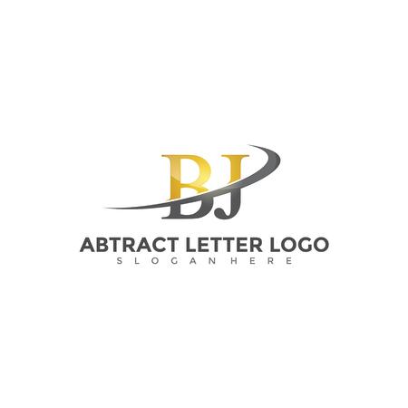 Abstract Letter BJ Logo Design. Vector illustration. Logó