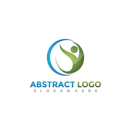 抽象的な人々のロゴデザイン。ベクトルイラスト。  イラスト・ベクター素材