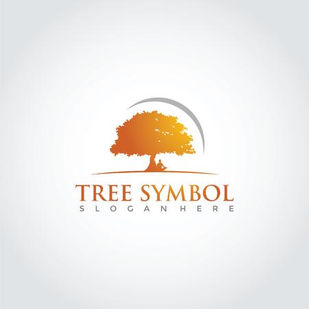 Tree Lanscape Logo Template Design. Vector Illustration Eps. 10 Vettoriali