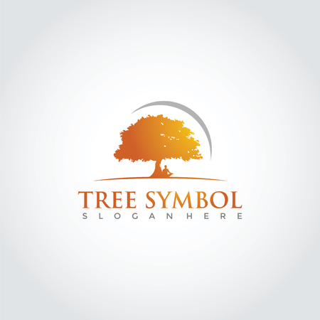 Tree Lanscape Logo Template Design. Vector Illustration Eps. 10 Illustration