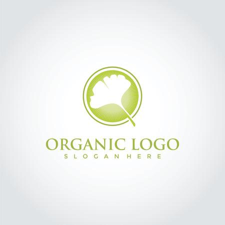 オーガニックリーフロゴテンプレートデザイン。ベクトルイラストEps。10歳  イラスト・ベクター素材