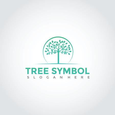 Tree Logo Template Design. Vector Illustration Eps. 10