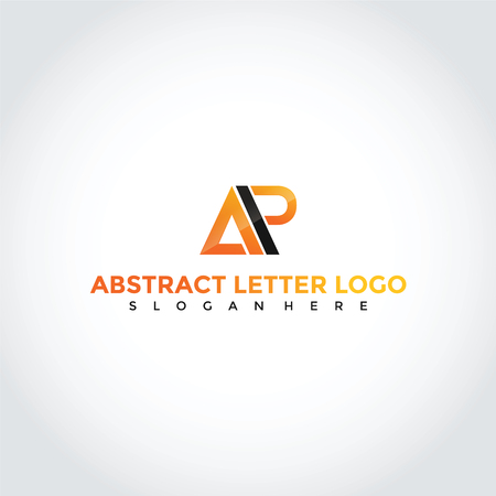 抽象文字 AP シンボルデザイン。ベクターイラストレーター。  イラスト・ベクター素材