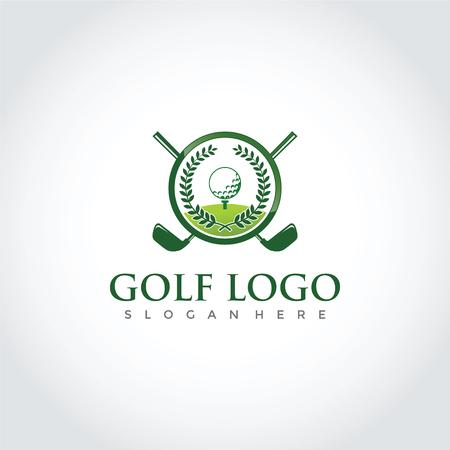ゴルフクラブシンボルデザイン。ベクトルイラストレーション。