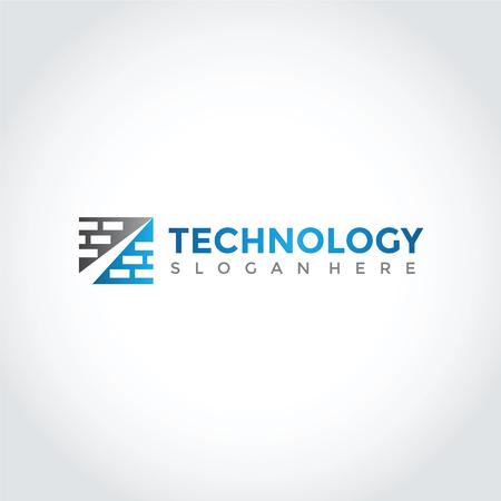 技術ロゴデザイン。ベクトルイラストレーション  イラスト・ベクター素材