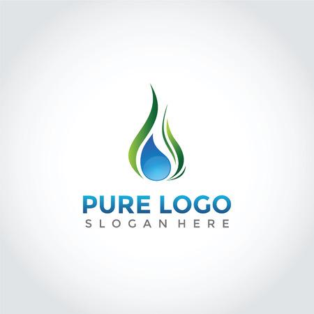 純粋なシンボルデザイン。自然のシンボルベクトルイラストレーター。