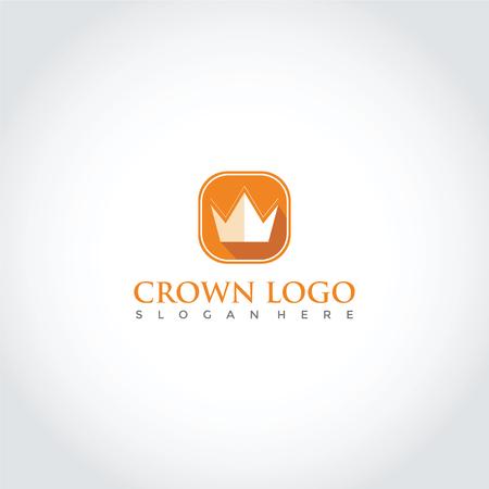 クラウンシンボルデザイン。 ベクトルイラストレーション。