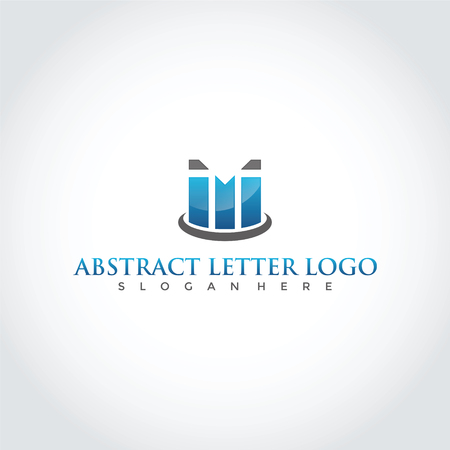 抽象文字 M 記号デザイン。 ベクトルイラストレーション。