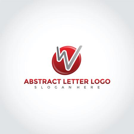 抽象文字 W 記号デザイン。 ベクトルイラストレーション。  イラスト・ベクター素材