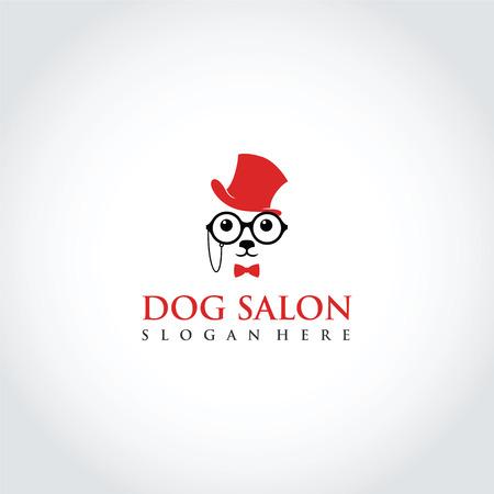 Dog Salon Logo Template Design. Vector Illustrator Eps. 10 Иллюстрация