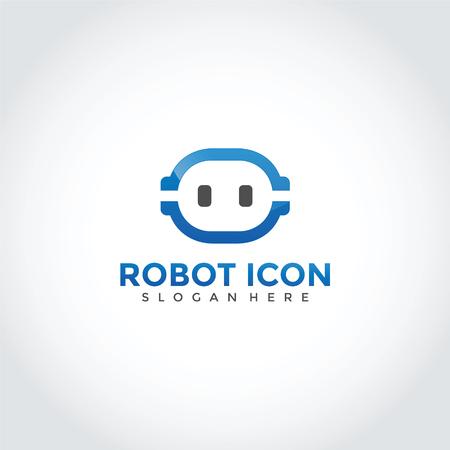 ロボットロゴデザイン。ベクターイラストレーターEps.10歳