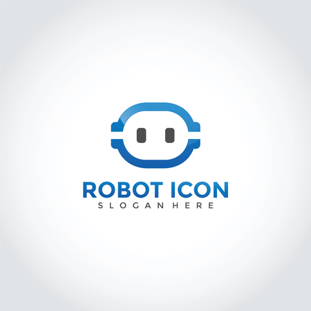 Robot Logo Design. Vector Illustrator Eps. 10 Иллюстрация