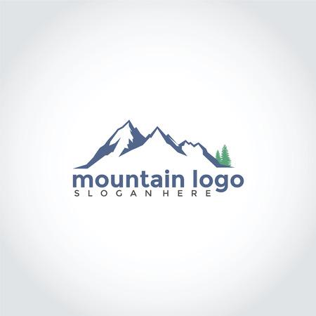 スプルースロゴデザインの山。ベクターイラストレーターEps.10  イラスト・ベクター素材