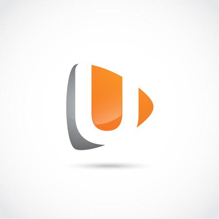 抽象手紙ロゴ、初期会社。モダンなロゴデザイン