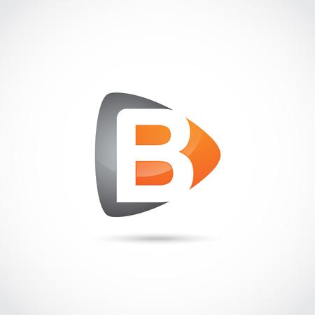 抽象手紙ロゴ、初期会社。モダンなロゴデザイン 写真素材 - 93001393