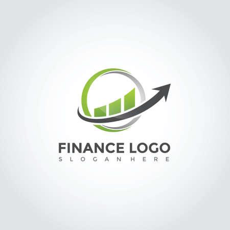 Minimalist finance logo design. Vector Illustrator