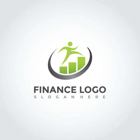Modern finance logo design.Vector Illustrator