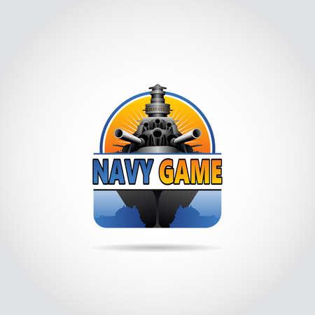 Modern navy game  design. Vector illustration eps.10 Ilustração