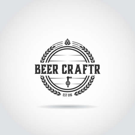 Minimalist beer craft  design. Vector illustration eps.10 Illusztráció